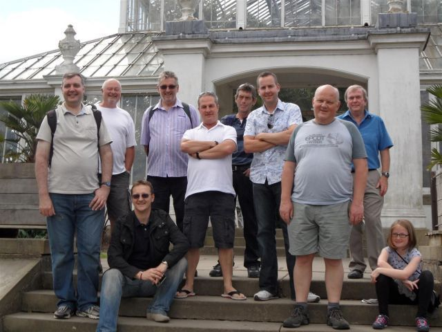 Group shot outside the Temperate House